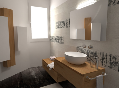 Contemporary bathroom by LONGO SRL Superfici & Arredo